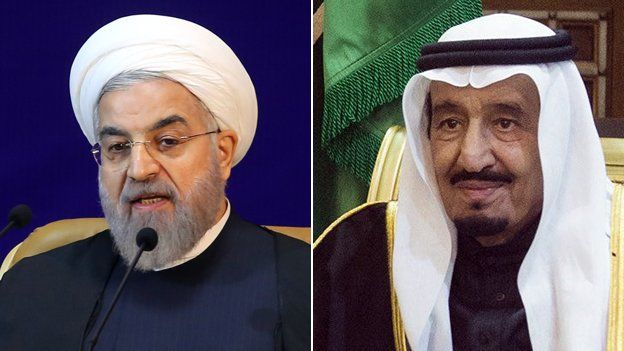 BBC. President Ruhani and King Salman