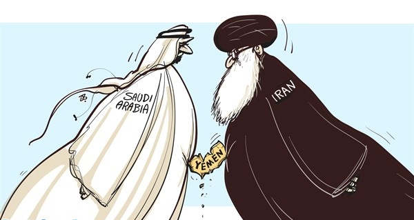 Image result for Saudi Arabia & Iran CARTOON