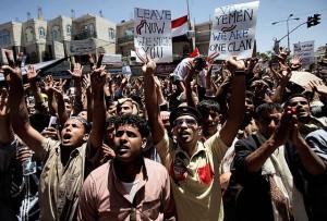Demonstrations against former Yemeni President Saleh.Muhammed Muheisen    AP (Photo 1)