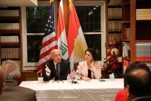 Professor Dlawer Ala'Aldeen addressing the Kurdish Comunity in Washington D.C.